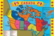 Melissa and Doug Floor Jigsaw Puzzles For Kids - Canada Map