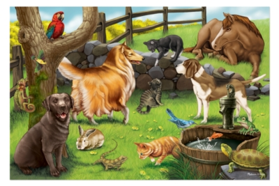 Pets - 24pc Floor Puzzle By Melissa & Doug