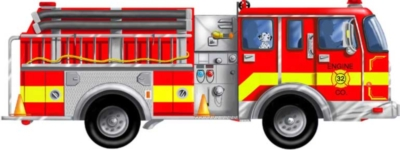 Giant Fire Truck - 24pc Floor Puzzle By Melissa & Doug