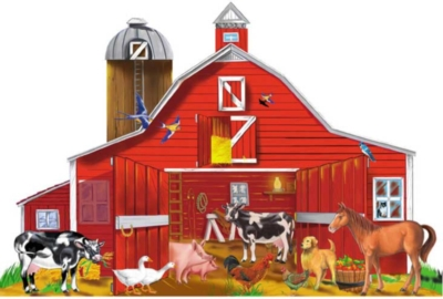 Melissa and Doug Floor Jigsaw Puzzles For Kids - Farm Friends