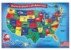 U.S.A. Map - 51pc Floor Puzzle By Melissa & Doug