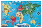 Melissa and Doug Floor Jigsaw Puzzles For Kids - World Map