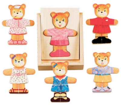 Wood Puzzles - Bear Dress