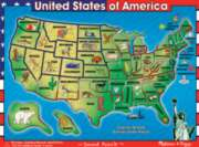 U.S.A. Map - 40pc Wooden Sound Puzzle By Melissa & Doug