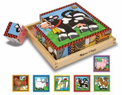 Farm Cubes - 16pc Block Puzzle For Kids By Melissa & Doug