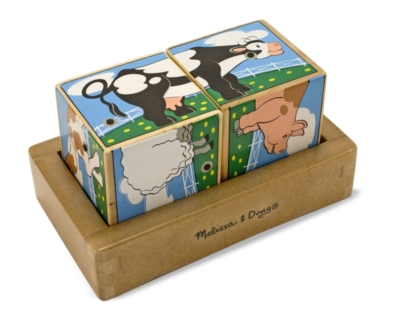 Farm Sounds - 2pc Block Puzzle By Melissa & Doug
