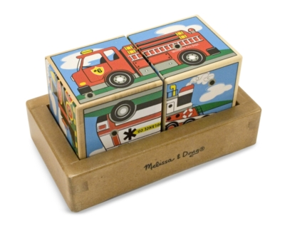 Vehicle Sounds - 2pc Block Puzzle By Melissa & Doug