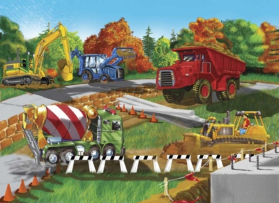Construction Site - 30pc Jigsaw Puzzle By Melissa & Doug