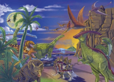 Land of Dinosaurs - 60pc Jigsaw Puzzle By Melissa & Doug