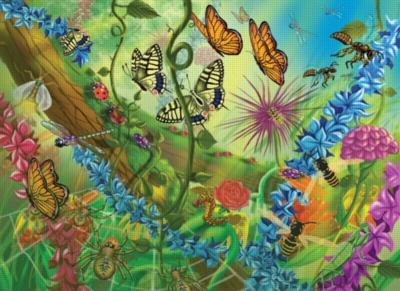 World of Bugs - 60pc Jigsaw Puzzle By Melissa & Doug