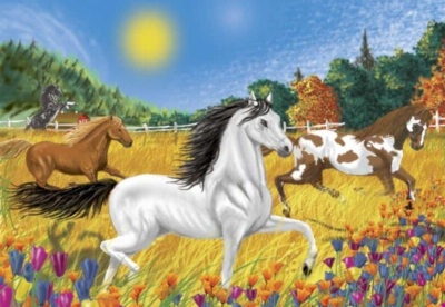 Melissa and Doug Jigsaw Puzzles for Kids - Horses in the Meadow