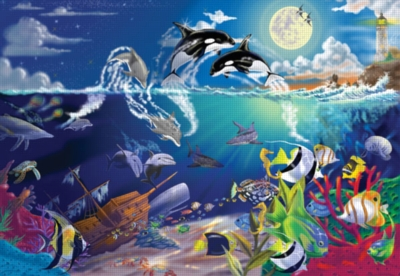 Underwater Playground - 200pc Jigsaw Puzzle By Melissa & Doug