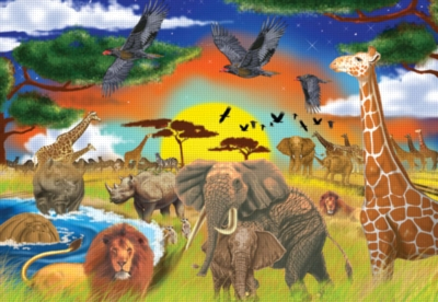 Safari Adventures - 200pc Jigsaw Puzzle By Melissa & Doug
