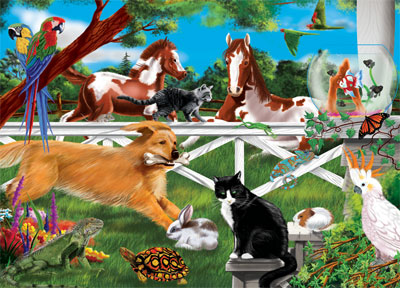 Melissa and Doug Jigsaw Puzzles for Kids - Playful Pets
