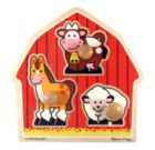 Barnyard Animals - 3pc Jumbo Knob Puzzle By Melissa & Doug