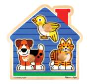House Pets - 3pc Jumbo Knob Puzzle By Melissa & Doug