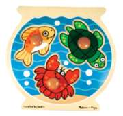 Fish Bowl - 3pc Jumbo Knob Puzzle For Kids By Melissa & Doug