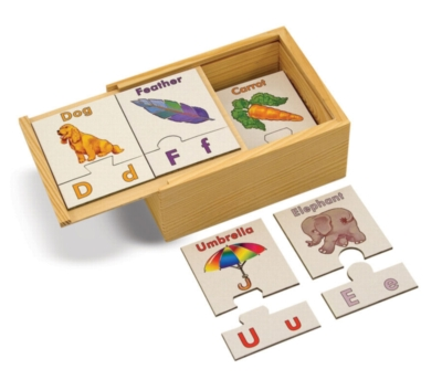 Alphabet - 26pc Puzzle Cards By Melissa and Doug