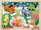 Playful Pets - 12pc Wooden Jigsaw Puzzle For Kids By Melissa & Doug