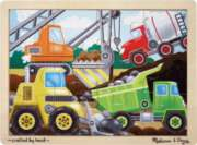 Construction Site - 12pc Wooden Jigsaw Puzzle By Melissa & Doug
