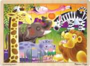 African Plains - 24pc Wooden Jigsaw Puzzle By Melissa & Doug