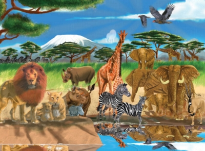 Melissa and Doug Jigsaw Puzzles for Kids - On the Savannah