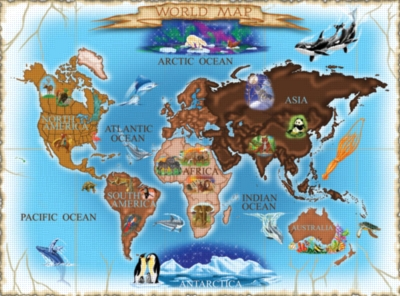 Melissa and Doug Jigsaw Puzzles for Kids - Map of the World