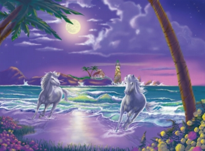 Seaside Stallions - 500pc Jigsaw Puzzle By Melissa & Doug