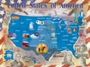 Map of the United States - 500pc Jigsaw Puzzle By Melissa & Doug