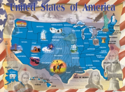 Melissa and Doug Jigsaw Puzzles for Kids - Map of the United States