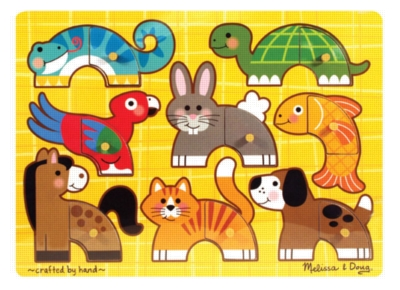 Pets Mix 'n Match - 8pc Wooden Peg Puzzle By Melissa & Doug