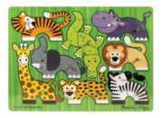 Safari Mix 'n Match - 8pc Wooden Peg Puzzle By Melissa & Doug