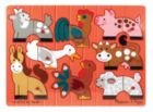 Farm Mix 'n Match - 8pc Wooden Peg Puzzle By Melissa & Doug