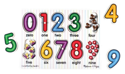 See-Inside Numbers Peg - 10pc Wooden Peg Puzzle By Melissa & Doug