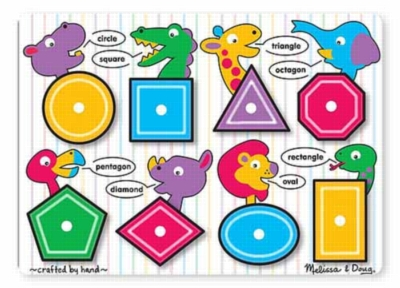 Shapes - 8pc Peg Puzzle By Melissa and Doug