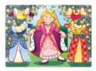 Princess Dress-up Mix 'n Match - 8pc Wooden Peg Puzzle By Melissa & Doug