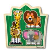Jungle Friends - 3pc Jumbo Knob Puzzle By Melissa and Doug