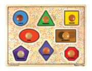 Large Shapes - 8pc Jumbo Knob Puzzle By Melissa & Doug