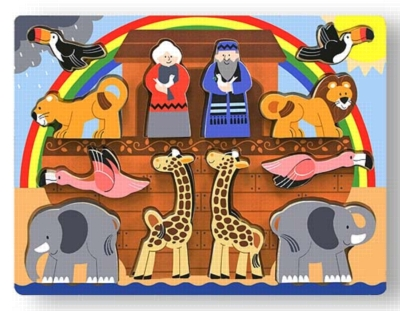 Noah's Ark - 12pc Chunky Wood Puzzle By Melissa & Doug