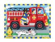 Fire Truck - 18pc Wooden Puzzle By Melissa & Doug