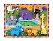 Safari - 8pc Wooden Puzzle By Melissa & Doug