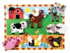 Farm Animals - 8pc Wooden Children's Puzzle By Melissa & Doug