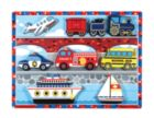 Vehicles - 9pc Wooden Children's Puzzle By Melissa & Doug