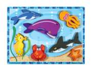 Sea Creatures - 7pc Wooden Puzzle By Melissa & Doug