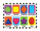 Shapes - 8pc Wooden Children's Puzzle By Melissa & Doug