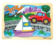 Transport Trio - 8pc Wooden Layered Puzzle By Melissa & Doug