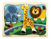 Zoo Crew - 9pc Wooden Layered Puzzle By Melissa & Doug