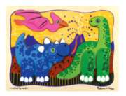 Prehistoric Pals - 9pc Wooden Layered Puzzle By Melissa & Doug