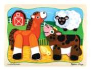 Barn Buddies - 10pc Wooden Layered Puzzle By Melissa & Doug