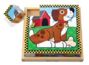 Pets Cube - 16pc Block Puzzle By Melissa & Doug